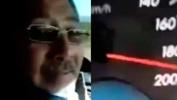 Video | Director de tránsito se filmó manejando a 190 km/h
