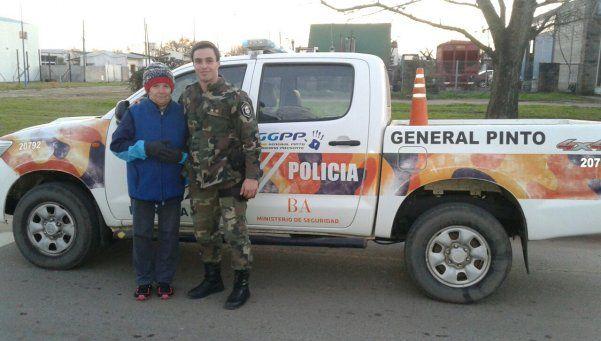 Un heroico policía bonaerense le salvó la vida a una mujer