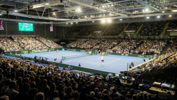La semifinal de la Copa Davis, en el patio de la casa de Murray