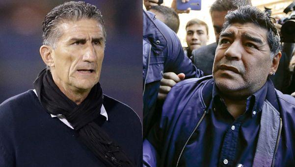 Maradona le dio una cálida bienvenida a Bauza en la Selección