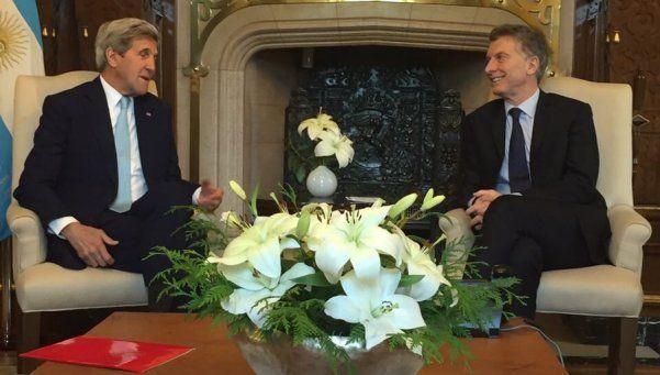 Macri recibió al secretario de Estado de Estados Unidos