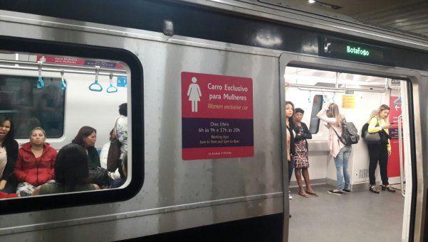 Allá, sí: así funcionan los vagones para mujeres en Río de Janeiro