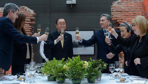 Macri y Ban Ki-moon tuvieron un mano a mano con elogios mutuos