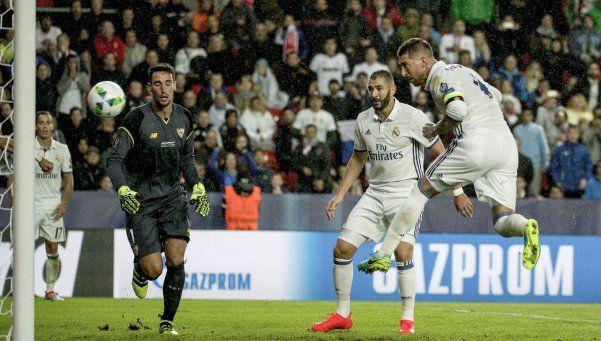 Supercopa de Europa: el Sevilla de Sampaoli perdió ante el Madrid