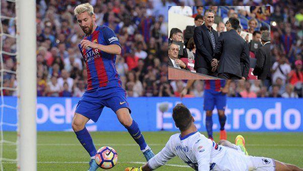 Bauza vio a Messi desde la platea y este jueves se reúnen