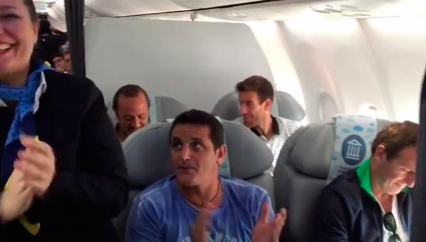 Video | La ovación a Del Potro en el avión de vuelta de Río