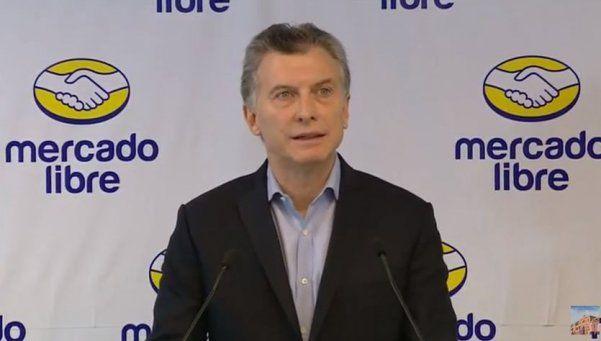 "En Mercado Libre, Macri anunció una ""ley de emprendedorismo"""