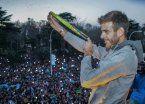 Delpo fue recibido como un héroe en Tandil y le harán una estatua