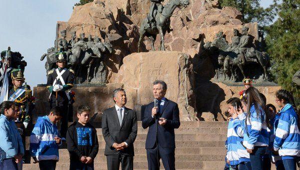 Macri y un mensaje a la Corte en el homenaje a San Martín