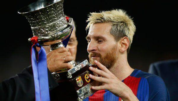 Messi conquistó la Supercopa de España ante Sampaoli