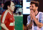 De Bochini para Messi