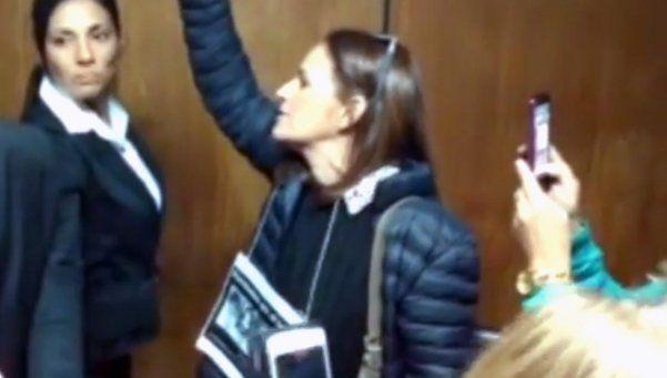 La protesta de Cecilia Pando en el juicio por La Perla