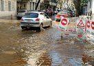 La rotura de un caño, la razón del caos vehicular en Belgrano