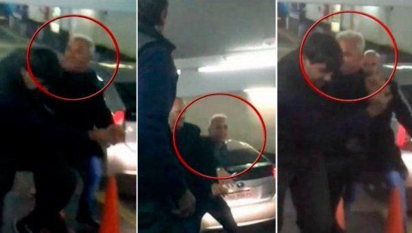 Video | Flavio Mendoza, a las piñas con un playero en un garaje