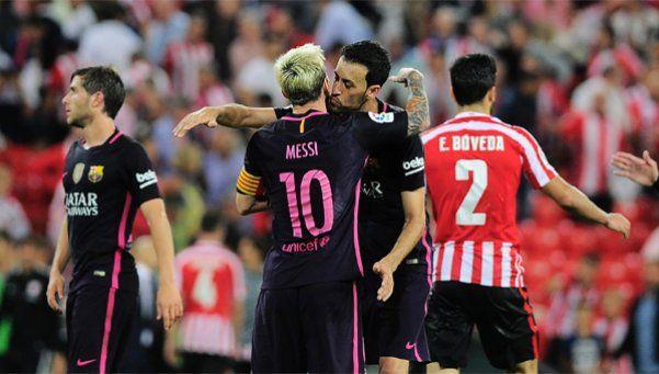 El Barcelona de Messi venció al Atlhetic
