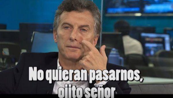 Palos en la rueda, la nueva canción irónica contra Macri