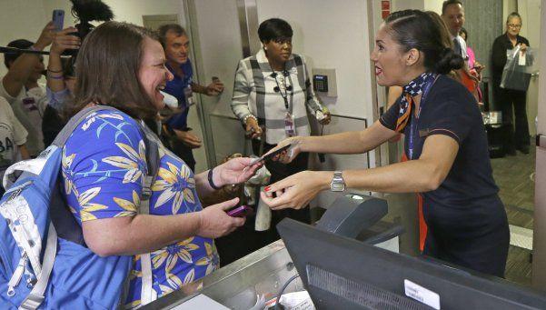 Después de 55 años, llegó a Cuba el primer vuelo desde Estados Unidos