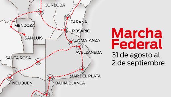 Infografía | Marcha Federal: el recorrido de las 5 columnas
