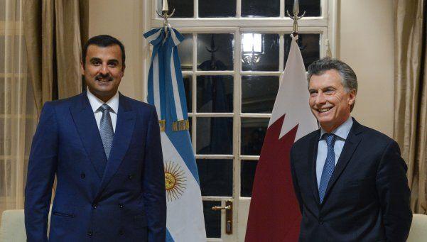 Macri se reunió con el emir de Qatar en Doha