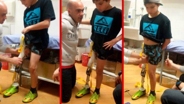 Video | El hincha de Racing que conmovió al país podrá caminar