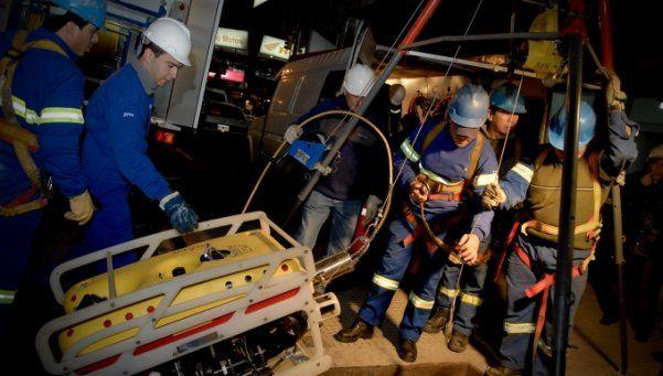 Mini sumarino de AySA inspeccionará río subterráneo