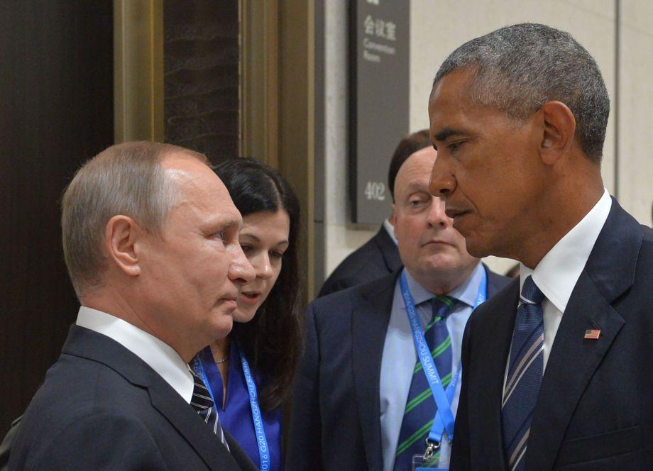 La foto del día: la mirada de Obama a Putin