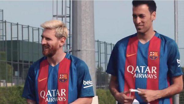 Video | El penal de Messi con los ojos vendados