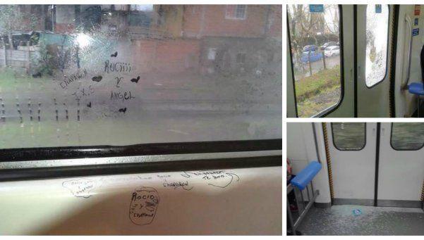 Denuncian vandalismo en los nuevos trenes del Roca