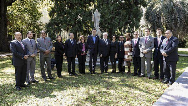 Bullrich, con embajadores latinoamericanos y del Estado de Israel