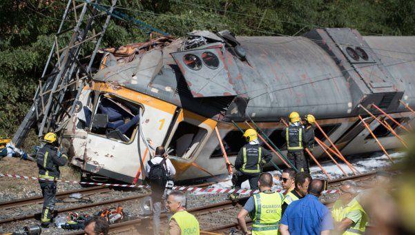 Accidente ferroviario en Galicia: hay dos argentinas heridas