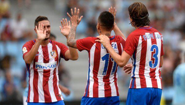 El Atlético de Simeone goleó y consiguió el primer triunfo