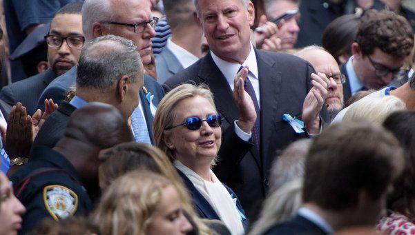 Video  | Hillary Clinton se descompuso en homenaje por las Torres