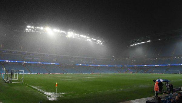 Suspendido por lluvia el partido del City de Guardiola por Champions