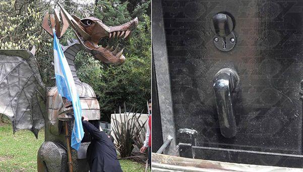 Hallaron una caja fuerte en un dragón en casa de ex funcionario sciolista