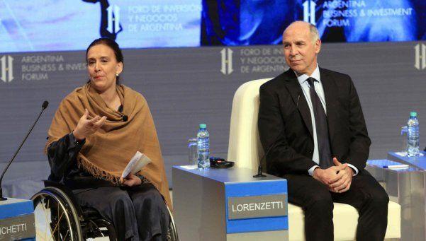"""Lorenzetti a inversores: """"En el país existe la seguridad jurídica"""""""