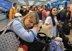 Hubo caos en los aeropuertos del país por un paro de maleteros