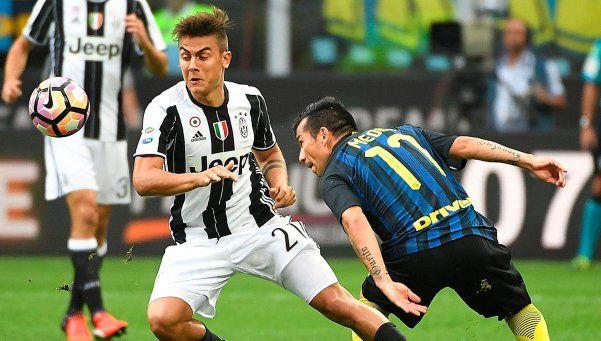 Inter frenó al pentacampeón Juventus en el clásico de Italia