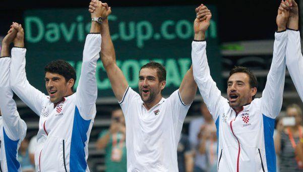 Croacia, el rival de Argentina en la final de la Copa Davis
