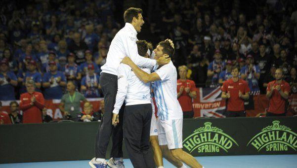 Copa Davis: Mayer conquistó Glasgow y Argentina clasificó a la final