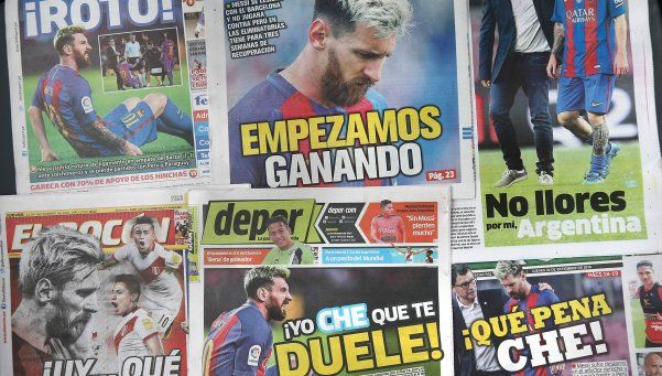 En Perú se burlaron de la lesión de Messi