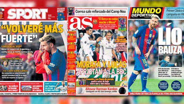 El Patón disparó por la lesión de Messi y la prensa española contraatacó