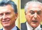 Se viene una cumbre entre Macri y Temer