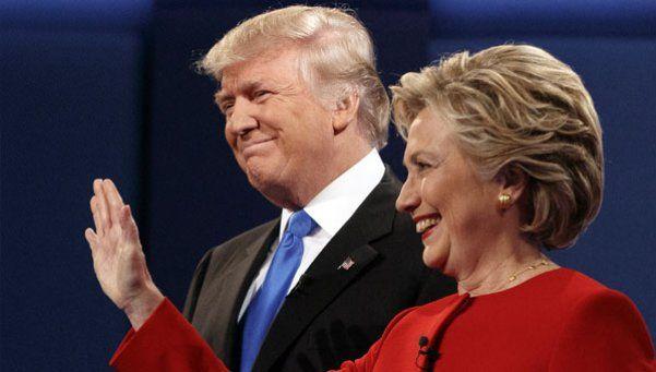 Hillary y Trump debatieron con la presión de los sondeos