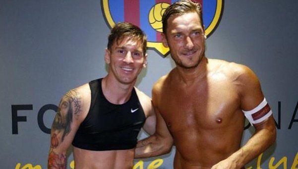 Video   El saludo de Messi para Totti por su cumpleaños