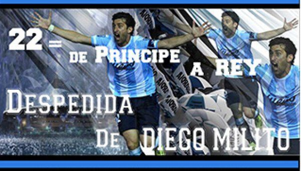 Diego Milito tendrá su partido despedida el 11 de noviembre
