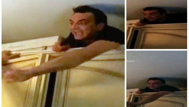 Video   Capturan a jefe de la mafia escondido detrás del placard