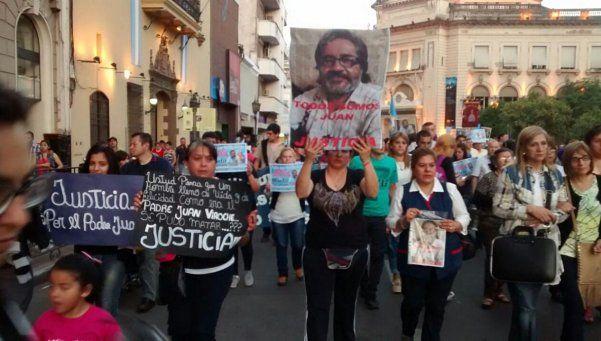 Marcha por esclarecimiento de la muerte del cura Viroche