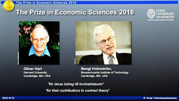 El Nobel de Economía fue para dos teóricos del contrato