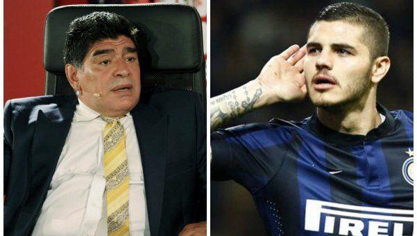 Maradona volvió a atacar a Icardi y el delantero le respondió