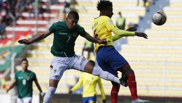 Bolivia no supo administrar la ventaja y Ecuador se lo empató